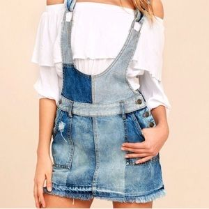 Free People The Patchwork Jumper Overall Dress